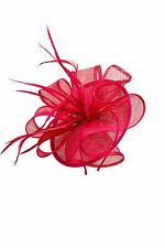 Ladies Women Headband Clip Sinamay Wedding Outdoor Occasion Large Hat Fascinator