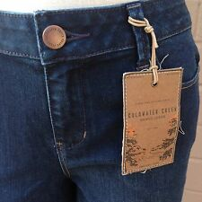 Coldwater Creek Blue Denim Bootcut Jeans Size 4 Natural Fit Dark Wash New NWT