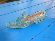 VINTAGE JEWELED SHOE Handmade Beaded VERY OLD AND ORNATE STYLE