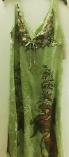 New Butterfly Dropout Womens Colorful Maxi Long Sun Dress Green Size xs