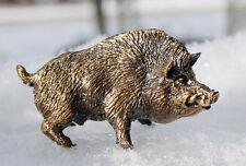 Solid Bronze Boar  Miniature by N.Fedosov.