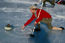557075 Curling On Lake Of Monteith Central Scotland A4 Photo Print