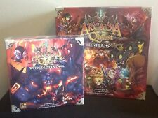 Arcadia Quest Inferno Core Game +Whole Lotta Lava Expansion New In Hand Cmon