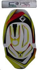 Leatt Adult Neck Brace Decals-Stickers -Yellow-Red Design