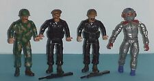 4 REMCO TOYS ACTION FIGURES-4in-MILITARY-1981 AND 1986