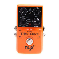 Hot Orange NUX Time Core Guitar Effect Pedal 7 Delay Models True Bypass