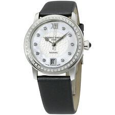 FREDERIQUE CONSTANT Slimline Mother of Pearl Diamond Ladies Watch FC303WHD2PD6