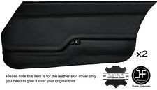 Puntada Negro 2X Tarjeta de puerta delantera cubiertas de cuero adapta Mazda RX7 FB Serie 2 81-83