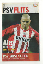 Orig.PRG   Champions League  2004/05  PSV EINDHOVEN - ARSENAL FC  !!  SELTEN