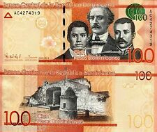 DOMINICAN REPUBLIC 100 Pesos Banknote World Paper Money Currency Pick p-New 2014