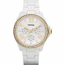 Fossil Women's AM4493 Cecile Multi-Function White Resin Bracelet Watch