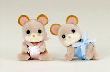 *NEW* SYLVANIAN FAMILIES 4157 Maces Mouse Twins - set of 2 Babies 4cm Twin Baby