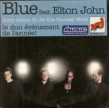CD 2T.-BLUE FEAT ELTON JOHN--SORRY SEEMS TO BE THE...