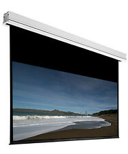 """120"""" Ceiling Recessed Motorized Projector Screen White 16:9 Projection w/ Remote"""