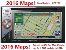 PIONEER AVIC-F900BT / AVIC-F90BT / AVIC-F700BT 2016 MAP UPDATE & GPS REPAIR FIX