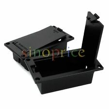 2pcs ABS 9V Battery Box Case Compartment Holder for Active Bass Guitar Pickup