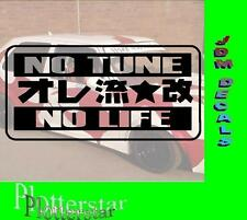 No Tune no Life JDM Sticker Adhesivo OEM Power Fun like Shocker Drift