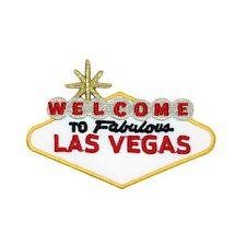 """Landmark Sign """"Welcome To Fabulous Las Vegas"""" Patch Travel Site Iron-On Applique"""