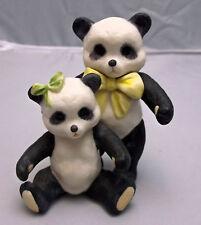 Vintage 1970 CYBIS Porcelain Panda Pair Figurine, Signed, Gift Idea