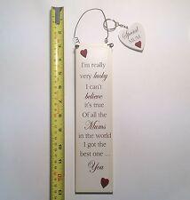 Lucky EMUM plaque murale & porte-clés fête mères & anniversaire idées cadeau pour elle
