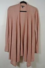 NEW EILEEN FISHER Light Sand Stone Thin Knitted Draped Front Cardigan Size S
