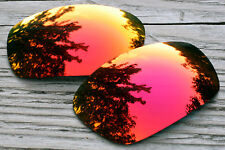 Red Purple Custom Mirrored Replacement Sunglass Lenses for Oakley Jawbone