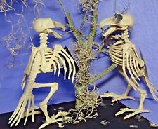 Halloween Skeleton Crow Raven Moss Scary Haunted House Prop Party Decoration Lot