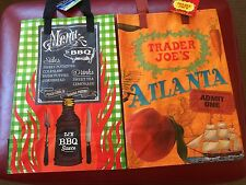 The SOUTH - Trader Joe's reusable Shopping grocery Tote ECO bags NWT 2