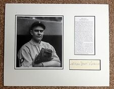 BABE ADAMS Signed Autographed 3x5 Index Card Matted w/ Photo & Bio to 11x14