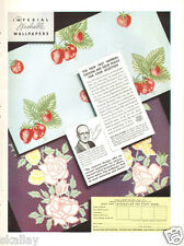 1937 LARGE Print Ad of Imperial Paper & Color Corp Wallpapers Priestly Morrison
