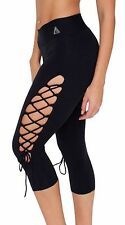 WOMEN'S LEGGINGS PANTS CRISS CROSS OPEN SIDE BRAZILIAN BUTT LIFT YOGA FASHION