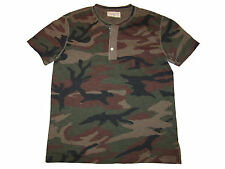 Ralph Lauren Denim and Supply Military Camo Polo Henley USA Flag Work Shirt L