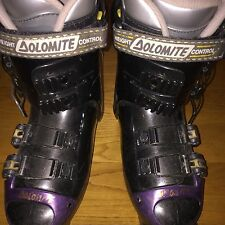Black Purple Youth Ski Boots Dolomite Mondo 23.5 Mens 5.5 Womens 6.5 / 7 275 mm