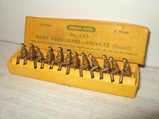 Rare Vintage Dinky No 603 complete Box of 12 Army Personnel Privates Seated