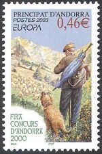 Andorra 2003 Europa/Poster Art/Sheep Dog/Shepherd/Farming/Animals 1v (n42658)