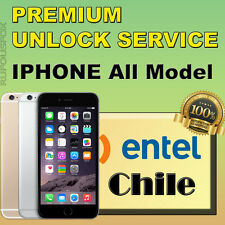 Entel CHILE PREMIUM OFFICIAL Unlock Service IPhone 4s 5 5c 5s 6 6+ 6s 6s+ 7 7+