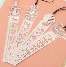 4191 Creative Hollow Ultra-thin Metal Fairy Tale World Ruler Bookmark Random x1
