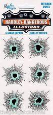 FUNNY GLASS WINDOW BULLET HOLE CAR STICKERS DECALS JOKE TRICK PRANK BOYS GIFT