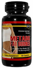 Metabo Fat Burner 60ct Diet Pills Extreme Weight Loss Burn Lose Tone Lipotropic
