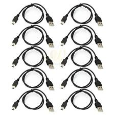 10PCS 0.8M USB2.0 Cable 5pin Mini B To A USB 2.0 Cable Data Cord Black