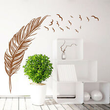 Wall Sticker Vinyl Birds Flying Feather Bedroom Home Decal Mural Art Decor