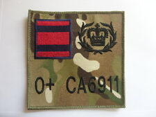 ROYAL ENGINEERS TRF LARGE ZAP BADGE MTP ADMIN PANEL BERGAN PTE to WO1 RE SAPPER