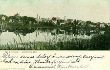 Jefferson, WI The East Side, Hand Colored 1906
