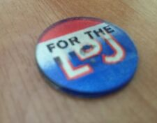 """LBJ --For The U.S.A."" flasher campaign button.  Vintage"