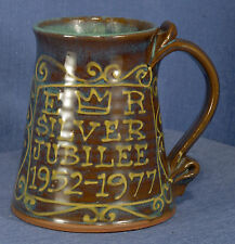 QEII Silver Jubilee Slip-Decorated Tankard Peter by Currell-Brown, Snake Pottery