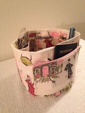 "Beautiful Handmade Paris,Eiffel Tower, French Purse Organizer Insert  24"" Around"