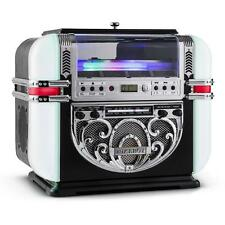 NEW 50s RETRO JUKEBOX PLAYER AM / FM RADIO CD w. STEREO SPEAKERS * FREE P&P UK