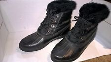 Black SOREL Kaufman Canada Winter Boots Women's 7 Removable Liner 4-Eye