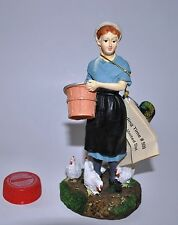 VTG AMISH UNITED Collection FEEDING TIME 2000 Original Woman Chickens FREE S&H