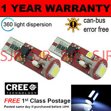 2X W5W T10 501 CANBUS ERROR FREE WHITE 5 SMD LED SIDELIGHT BULBS BRIGHT SL104404